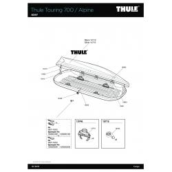 Pièces détachées - Thule Coffre de Toit