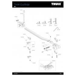 Pièces détachées - Porte-vélos Thule Outride