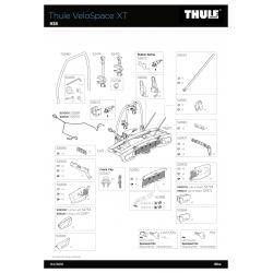 Pièces détachées - Porte-vélos Thule Vélospace XT