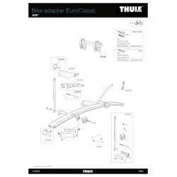 Pièces détachées - Adaptateur Thule Euroclassic 9281
