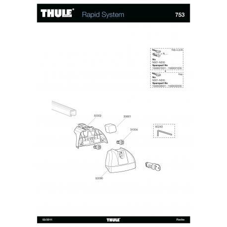 Pièces détachées - Thule rapid system 753