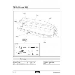 Pièces détachées - Coffre de toit Thule Ocean 200
