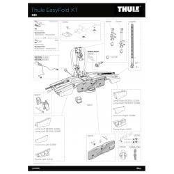 Pièces détachées - Porte-vélos Thule EasyFold XT
