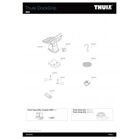 Pièces détachées Thule Dock Grip - Kayak Thule