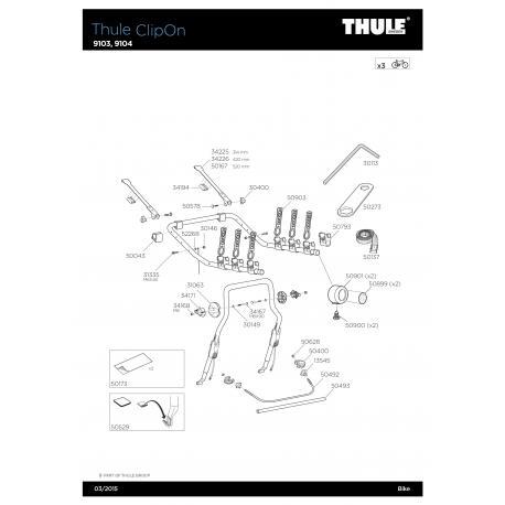 Pièce SAV Thule ClipOn 9103/9104