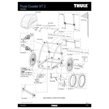 Pièces détachées Remorque Thule Coaster