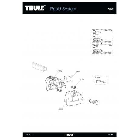 Pièces détachées - Thule Rapid System